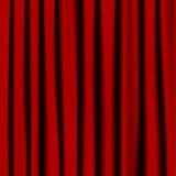Rode gordijnen Stock Foto's