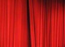 Rode gordijnen Royalty-vrije Stock Afbeeldingen