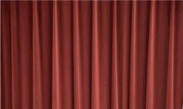 Rode Gordijnen royalty-vrije illustratie