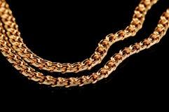 Rode gouden ketting Royalty-vrije Stock Afbeeldingen