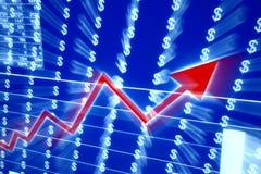 Rode grafiek Stock Foto
