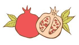 Rode granaatappels Stock Foto's