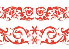 Rode grens royalty-vrije illustratie