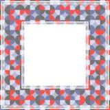 Rode grijze abstracte grens Stock Foto