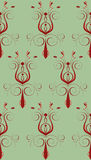 Rode Groene Abstracte Bloem Stock Afbeelding