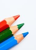 Rode, groene en blauwe potloden Royalty-vrije Stock Afbeelding