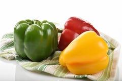Rode, groene en gele peper royalty-vrije stock fotografie