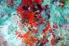 Rode groene fosforescerende abstracte pastelkleur zachte achtergrond, tinten, de achtergrond van de waterverfverf vector illustratie