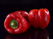 Rode Groene paprika Royalty-vrije Stock Fotografie