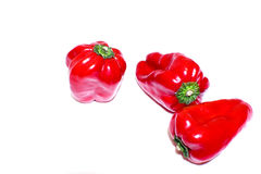 Rode Groene paprika Stock Afbeeldingen