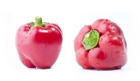 Rode groene paprika's Stock Foto
