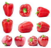 Rode groene paprika's Stock Afbeeldingen