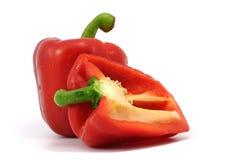 Rode groene paprika's Royalty-vrije Stock Afbeeldingen