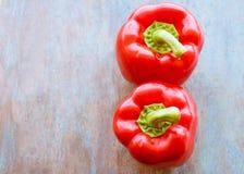 Rode groene paprika's Royalty-vrije Stock Fotografie