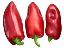 Rode groene paprika's Grueso DE Plaza, bovenkant royalty-vrije stock afbeeldingen