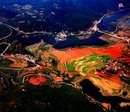 Rode grond van Provincie Yunnan Stock Foto