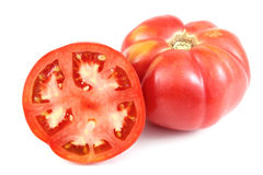 Rode grote tomaten Stock Afbeeldingen