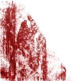Rode Grunge op Wit Stock Foto
