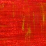 Rode grunge schilderde en kraste textuur Royalty-vrije Stock Foto's