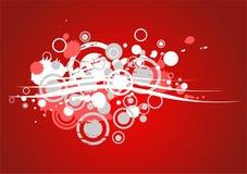 Rode grungeachtergrond stock illustratie