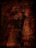 Rode grungeachtergrond Stock Fotografie