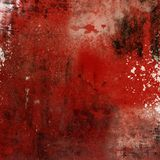 Rode grungeachtergrond Stock Afbeeldingen