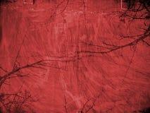 Rode grungeachtergrond met texturen Stock Fotografie
