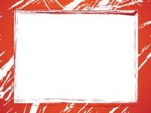 Rode grungegrens Stock Afbeelding