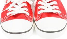 Rode Gymschoenen Stock Afbeelding