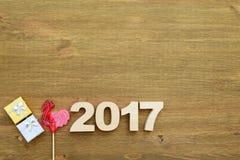 Rode haan, symbool van 2017 op de Chinese kalender Stock Afbeelding