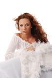 Rode haarengel Royalty-vrije Stock Fotografie