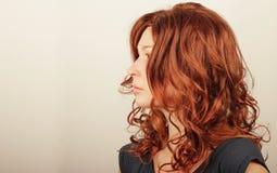 Rode haarvrouw Royalty-vrije Stock Afbeelding