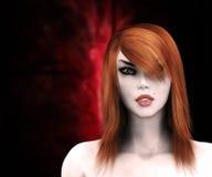Rode haired heks vector illustratie