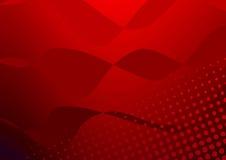 Rode Halftone Royalty-vrije Stock Afbeeldingen