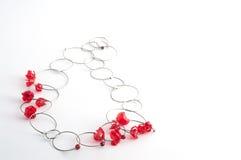 Rode halsband met draadfiets stock afbeeldingen