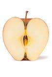 Rode halve appel royalty-vrije stock foto's