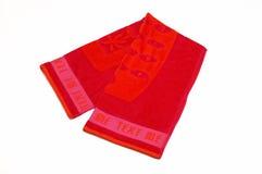 Rode handdoek Royalty-vrije Stock Foto's