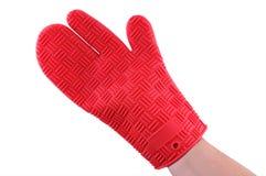 Rode handschoen Royalty-vrije Stock Afbeeldingen