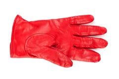 Rode handschoen Royalty-vrije Stock Fotografie