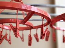 Rode hanger stock foto's