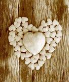 Rode hart gestalte gegeven valentijnskaartendag Royalty-vrije Stock Afbeelding