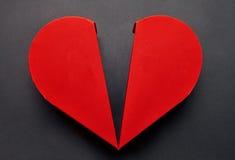 Rode hart gevormde doos voor chocoladedessert, conce van de Valentijnskaartendag Royalty-vrije Stock Afbeelding