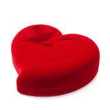 Rode hart-vormige buitensporige doos Royalty-vrije Stock Afbeeldingen