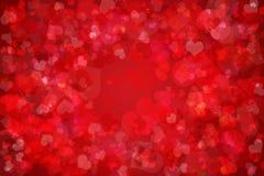 Rode hartachtergrond Stock Foto