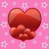 Rode hartachtergrond Stock Afbeelding
