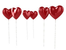 Rode hartballons Royalty-vrije Stock Afbeelding