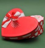 Rode hartdoos Stock Afbeelding