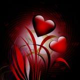 Rode harten Royalty-vrije Stock Foto's