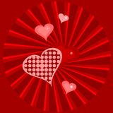 Rode harten stock illustratie