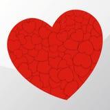 Rode harten Royalty-vrije Illustratie